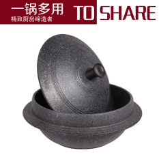 Cheap Korea Stone Bowl Stone Pot Bibimbap Special Soup Stew Skillet Medical Stone Does Not Stick Pot Gift Scouring Pad