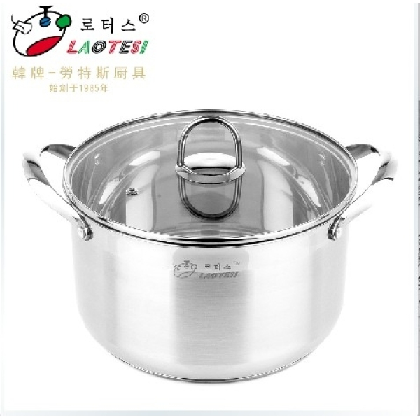 South Korea LAOTESI Product si chu Stainless Steel Double Handles Stew Pot A-type 18/20/22/24 Cm Singapore
