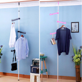 Retail Price Korea Standing Pole Clothes Hanger Rack Single Rod Pink