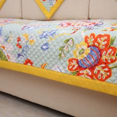 For Sale Korean Style Cotton Yellow Sofa Cushion Sofa Mat