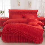 Buy Korean Style Brushed Solid Color Bedspread Lace Bed Skirt Oem Cheap
