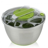 Sale Kruger Home Large Stainless Steel Salad Spinner With Lid And Plastic Colander Push Down Lever Non Slip Base Dishwasher Safe Intl Not Specified Online