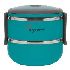 Price La Gourmet 3R Pack To Go 2 Tier 1 4L Stainless Steel Lunch Box Turquoise La Gourmet Original