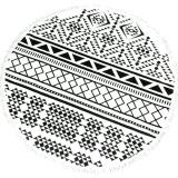How To Get La Vie Microfiber Printed Round With Tassel Circle Beach Towels Black