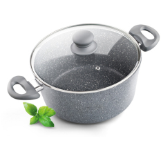 Lamart Induction Ready Marble Stone Saucepan/ Casserole 20cm By I. T Station Pte Ltd.