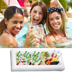 lanyasy Inflatable Salad Bar Buffet Ice Cooler Beverage Portable Serving Bar Food Drink Holder With Drain Plug For Football Parties, Pool Parties, BBQ,Tailgates And More - intl
