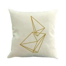 lanyasy Square Sofa Pillow Covers, Pawaca Linen Throw Pillowcase Cover 18 X 18 Home Sofa Car Decorative Cushion Covers - intl