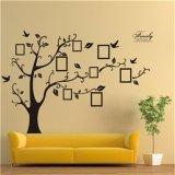 Large 200 250Cm 79 99In Black 3D Diy Photo Tree Frame Pvc Wall Decals Adhesive Wall Stickers Mural Art Home Decor Intl Compare Prices