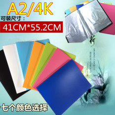 Large A2 Data Book 30 Page Engineering Drawing Book 4 Open File Clip 4K Sketch Book Drawing Poster Collection Clip Coupon