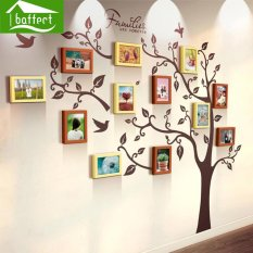 Large Family Tree Wood Photo Frames Wall Decal - The Sweetest Highlight of Your Home and Family - intl