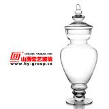 Cheapest Large Home Soft Dress Glass Sugar Bowl Glass Candy Jar Online