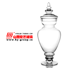 Buy Large Home Soft Dress Glass Sugar Bowl Glass Candy Jar Oem Online