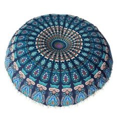 Large Mandala Floor Pillows Round Bohemian Meditation Cushion Cover Ottoman Pouf - Intl By Blworld.