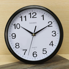 Cheap Large Vintage Round Modern Home Bedroom Retro Time Kitchen Wall Clock Quartz Black Online