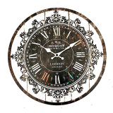 Compare Price Large Vintage Tracery Shabby Chic Retro Kitchen Home Office Wooden Wall Clock On China