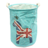 Price Large Waterproof Folding Laundry Hamper Bag Washing Basket Clothes Storage Pouch Blue Horse Oem