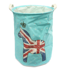 Sale Large Waterproof Folding Laundry Hamper Bag Washing Basket Clothes Storage Pouch Blue Horse Online On China