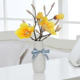 Low Cost Latest Model Hot Selling Artificial Fake Flowers With Vase Decorate With Living Room Bedroom Yellow
