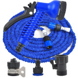 Latex 100 Ft 30M Expanding Flexible Garden Water Hose With Spray Nozzle Gardening Car Washing House Cleaning Blue Shop