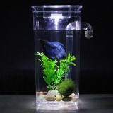 Buying Lazy Fish Tank Desktop Small Aquarium Bucket Fish Tank Mini Goldfish Tank Plastic Creative Ecological Fish Tank To Buy Fish Tank Square Cylinder Intl