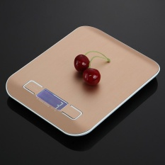 Lcd Digital Kitchen Scale Fingerprint Proof Stainless Steel 5Kg Platform Weighing Device Electric Food Weight Scale Intl Free Shipping