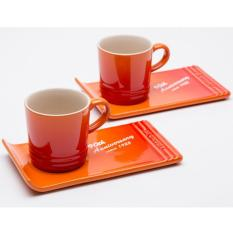 Sale Le Creuset Stoneware 90Th Anniversary Cafe And Deli Set Of 2 Flame On Singapore