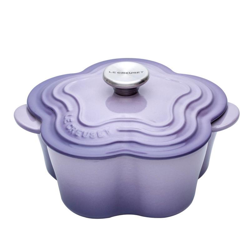 Le Creuset Cast Iron Flower Casserole (Blue Bell Purple) - Online Exclusive Singapore