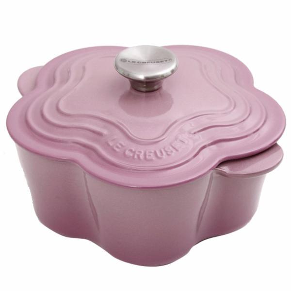 Le Creuset Cast Iron Flower Casserole (Mauve Pink) Singapore