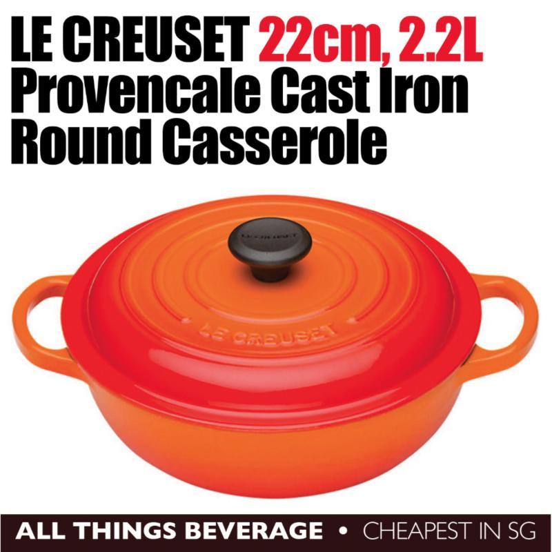 Le Creuset Provencale Volcanic Cast Iron Round Casserole Cocotte (Cheapest in SG) Singapore