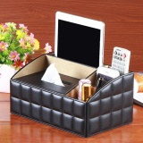 Leather Desk Organiser Case Office Multi Functional Desk Table Stationery Organizer Storage Box Phone Remote Control Holder 27 5X17X13 5Cm Intl Price