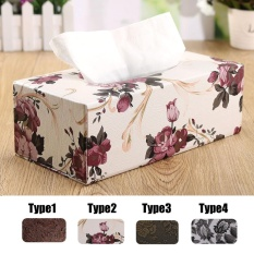 Wholesale Leather Tissue Paper Box Elegant Flower Pattern Decor Bathroomtissue Holder Case Style 2 Intl