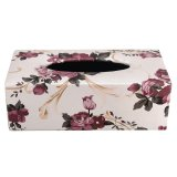 Store Leather Tissue Paper Box Elegant Flower Pattern Decor Bathroomtissue Holder Case Style 2 Intl Oem On Singapore