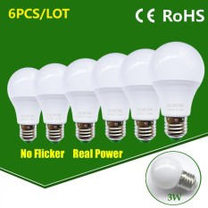 LED Bulb Lamp E27 15W High Brightness Light Bulb - Cold White / 6PCS - intl
