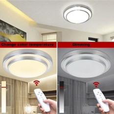 Led Ceiling Lights Change Color Temperature Ceiling Lamp 40W Smart Remote Control Dimmable Bedroom Living Room - intl
