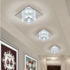 Led Crystal Aisle Lights Corridor Lights Off the Lights Ceiling Lamps(12cm+5W+White Light+LED Recessed Luminaire) - intl