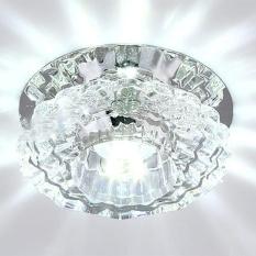 LED Crystal Ceiling Light Fixture Pendant Lamp for Corridor Hallway Living Room Lobby Color:White Power:3 - intl