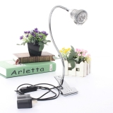Price Led Desk Lamp Table Bedside Study Reading Light Clip On Off Clamp Silver Warm White Intl Oem Online