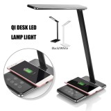 Discount Led Desk Lamp Table Folding Light Office Qi Wireless Desktop Charger Usb Black Us Plug Intl Not Specified On China