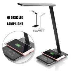 Best Led Desk Lamp Table Folding Light Office Qi Wireless Desktop Charger Usb Black Us Plug Intl