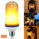 Led Flame Effect Fire Light Bulb Flickering Flame Lamp For Party Decor Style E27 Intl Lowest Price