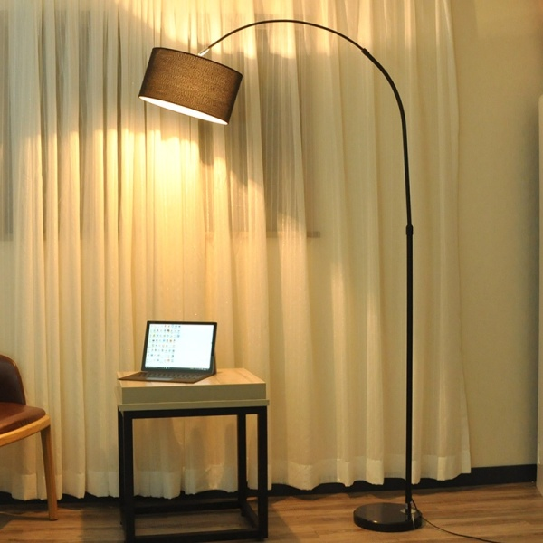 LED Floor Lamp Fashion Fishing Lamp Living Room Bedroom Study room Creative Lamp with Remote control- intl