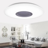 For Sale Led Music Flush Mount Modern Ceiling Light Lamp Fixture With Bluetooth Speaker Intl