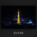 Sale Led Night Painting Background Wall Restaurant Decorative Painter Living Simple Mural With Nigh Ligh(Tokyo Tower) Intl Online China
