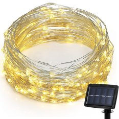Review Led Solar Powered String Lights 2 Modes Steady On Flash 150 Led 72 Feet Intl Sunergy On China