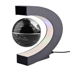 LED World Map Decoration Magnetic Levitation Floating Globe Light Black UK(Black) - intl