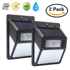 leegoal 2 Pack Outdoor Waterproof 35 Led Solar Motion Light Wall Lamp For Yard, Front Door, Patio, Pathway, Driveway, Emergency Use( White Light) - intl