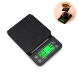 Recent Leegoal 3Kg 1G Drip Coffee Timer Digital Pro Pocket Kitchen Scale With Back Lit Lcd Display Precise Cooking Scale And Tray Black