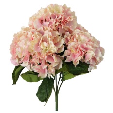 Leegoal Artificial Hydrangea Flower 5 Big Heads Bounquet Home Party Wedding Decor(Pink)