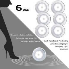 leegoal Automatic Sensor Lights Off The Lights Intelligent Bedroom Kitchen Home Human Body Induction LED Night Light 6 Pcs