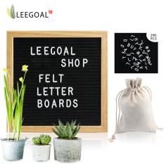 Buying Leegoal Felt Letter Board 10X10 Inches Changeable Letter Boards Black Message Board Include 290 Letters And Characters With Free Canvas Storage Bag Oak Wood Frame Intl